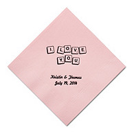 Personalized Napkins - DINNER (Love Letters)