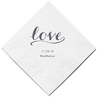 Personalized Napkins - BEVERAGE (Love Signature)