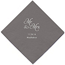 Personalized Napkins - BEVERAGE (Mr and Mrs)