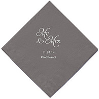 Personalized Napkins - DINNER (Mr and Mrs)