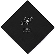 Personalized Napkins - BEVERAGE (Monogram)
