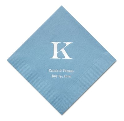 Personalized Napkins - BEVERAGE (Classic Monogram)