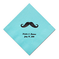 Personalized Napkins - DINNER (Mustache)