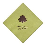 Personalized Napkins - BEVERAGE (Oak Tree)