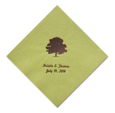 Personalized Napkins - LUNCHEON (Oak Tree)