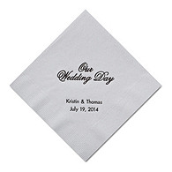 Personalized Napkins - BEVERAGE (Our Wedding Day)