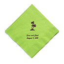 Personalized Napkins - BEVERAGE (Palm Trees)