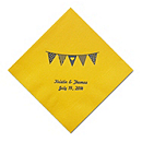 Personalized Napkins - BEVERAGE (Pennant Flag)
