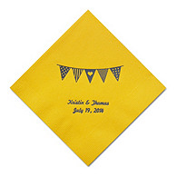 Personalized Napkins - DINNER (Pennant Flag)