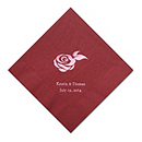 Personalized Napkins - DINNER (Rose)