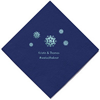 Personalized Napkins - BEVERAGE (Snowflakes)