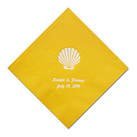 Personalized Napkins - BEVERAGE (Seashell)