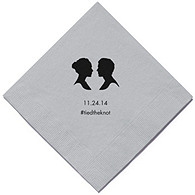 Personalized Napkins - DINNER (Silhouettes)