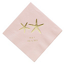 Personalized Napkins - BEVERAGE (Starfish)