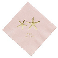 Personalized Napkins - BEVERAGE (Starfish)