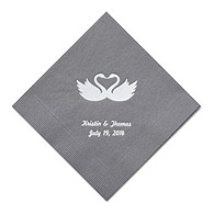Personalized Napkins - BEVERAGE (Swans)