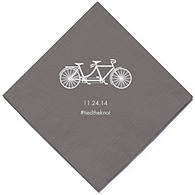 Personalized Napkins - DINNER (Tandem Bike)