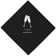 Personalized Napkins - BEVERAGE (Toasting Flutes)
