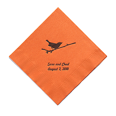 Personalized Napkins - LUNCHEON (Bird on Branch)