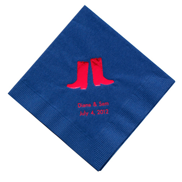 Personalized Napkins - LUNCHEON (Boots)
