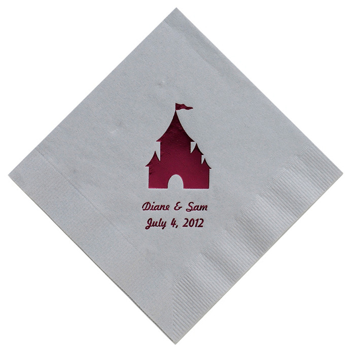 Personalized Napkins - LUNCHEON (Castle)