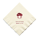 Personalized Napkins - LUNCHEON (Cupcake)