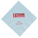 Personalized Napkins - LUNCHEON (Eat, Drink... Block)