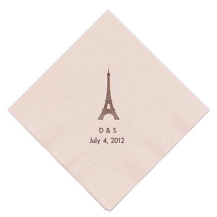 Personalized Napkins - LUNCHEON (Paris)