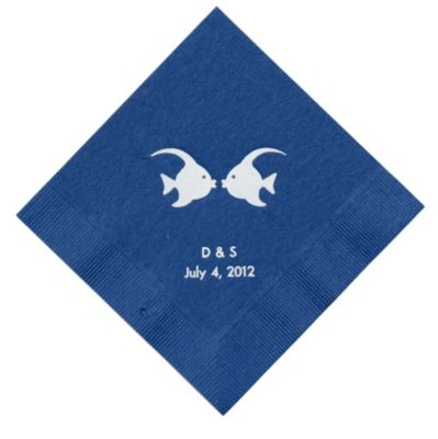Personalized Napkins - LUNCHEON (Kissing Fish)