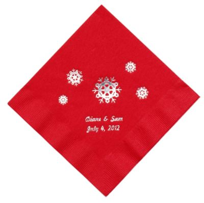 Personalized Napkins - LUNCHEON (Snowflakes)
