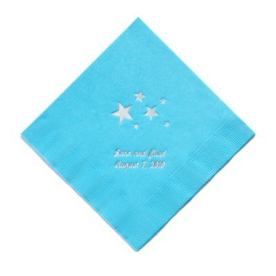 Personalized Napkins - LUNCHEON (Stars)