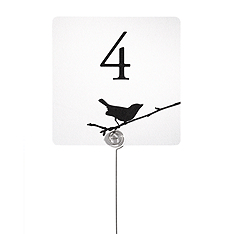 Table Number Cards - Bird on Branch