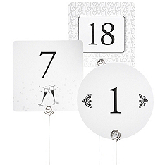 Table Number Cards