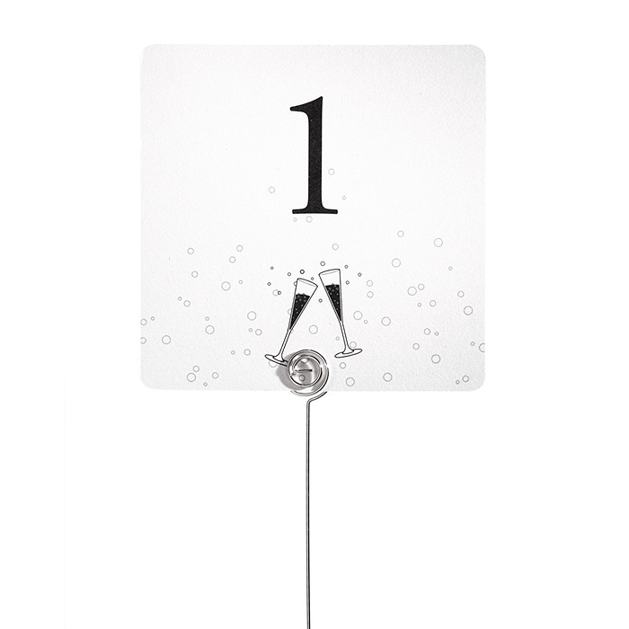 Table Number Cards - Cheers!