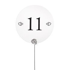 Table Number Cards - Double Hearts