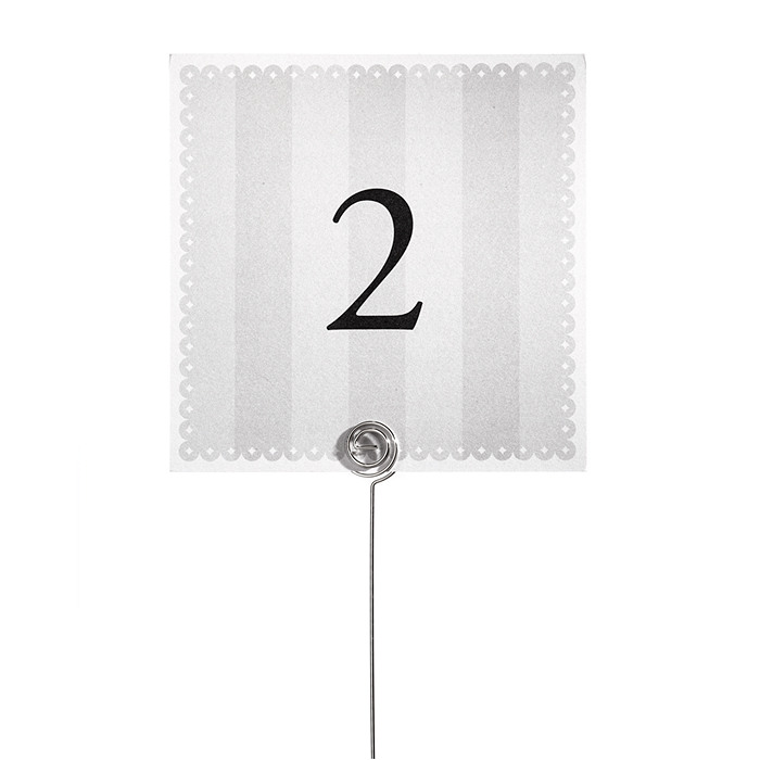 Table Number Cards - Eyelet