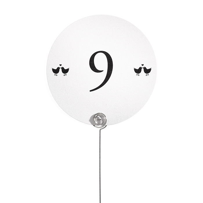 Table Number Cards - Lovebirds