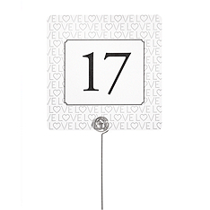 Table Number Cards - LOVE