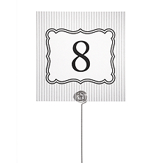 Table Number Cards - Stripe