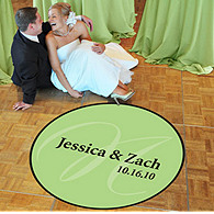 Monogram Wedding Dance Floor Decal