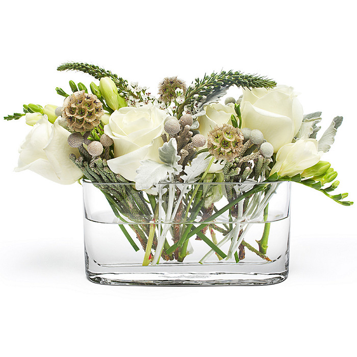 Wide Glass Centerpiece