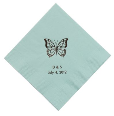 Personalized Napkins - DINNER (Butterfly)