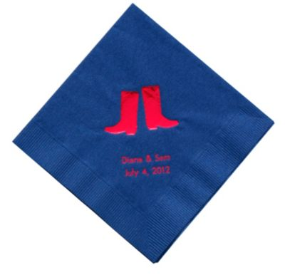 Personalized Napkins - DINNER (Boots)