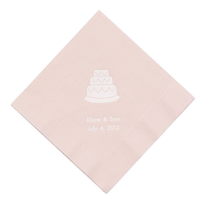 Personalized Napkins - DINNER (Cake)
