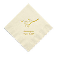 Personalized Napkins - DINNER (Cherry Blossom)