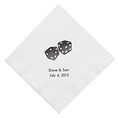 Personalized Napkins - DINNER (Dice)
