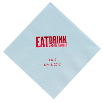 Personalized Napkins - DINNER (Eat, Drink - Block)