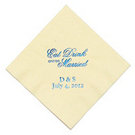Personalized Napkins - DINNER (Eat, Drink- Script)