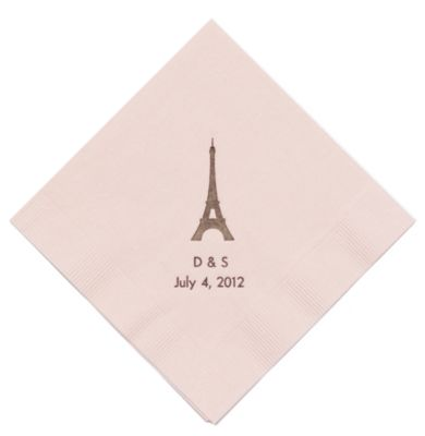 Personalized Napkins - DINNER (Paris)