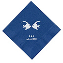 Personalized Napkins - DINNER (Kissing Fish)